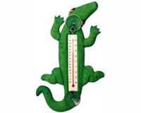 Climbing Green Alligator Small Window Thermometer-SE2172109