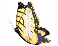 Yellow Swallowtailed Butterfly Small Window Thermometer-SE2172506