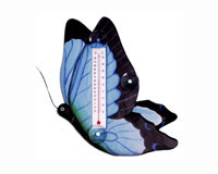 Blue Swallowtailed Butterfly Small Window Thermometer-SE2172507