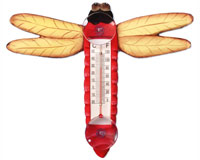 Red Dragonfly Small Window Thermometer SE2172509