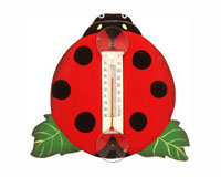 Ladybug on a Leaf Small Window Thermometer-SE2172511