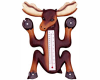 Climbing Moose Small Window Thermometer-SE2174002