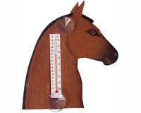 Brown Horse Head Small Window Thermometer-SE2174003
