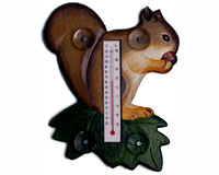 Squirrel on a Leaf Small Window Thermometer SE2174005