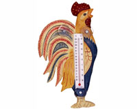 Country Rooster Small Window Thermometer-SE2175001