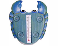 Blue CRAB Small Window Thermometer-SE2177022