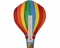Hot Air Balloon with Vertical Stripes Small Window Thermometer SE2177030