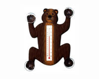 Climbing Black Bear Small Window Thermometer-SE2177037