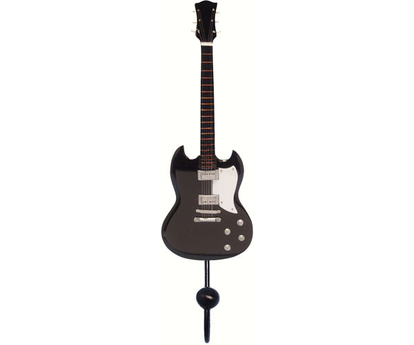Black Standard Plain Guitar Single Wallhook SE3153912'