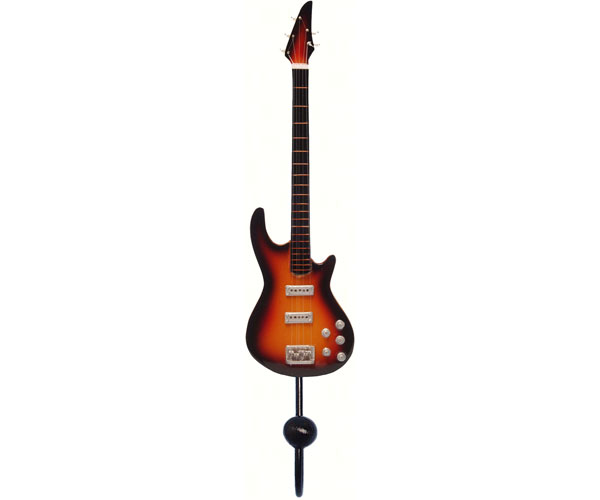 Orange & Black 5-String Bass Guitar Single Wallhook