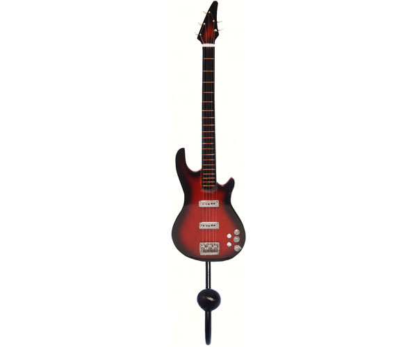 Red & Black 5-String Bass Guitar Single Wallhook