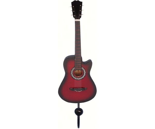 Red & Black Acoustic Guitar Single Wallhook SE3153961