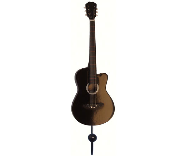 Black Acoustic Guitar Single Wallhook SE3153962