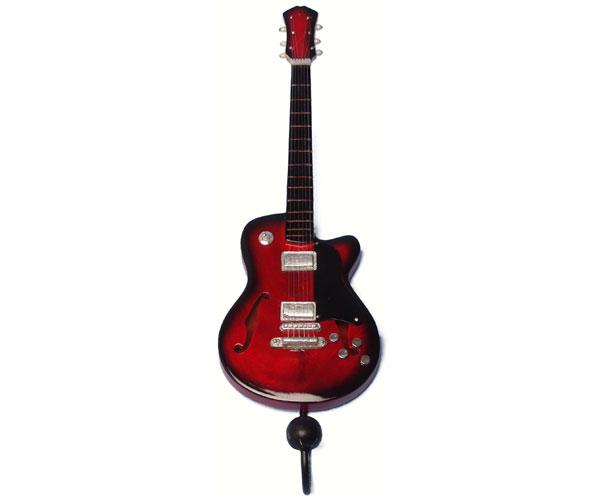 Red & Black Jazz Guitar Single Wallhook