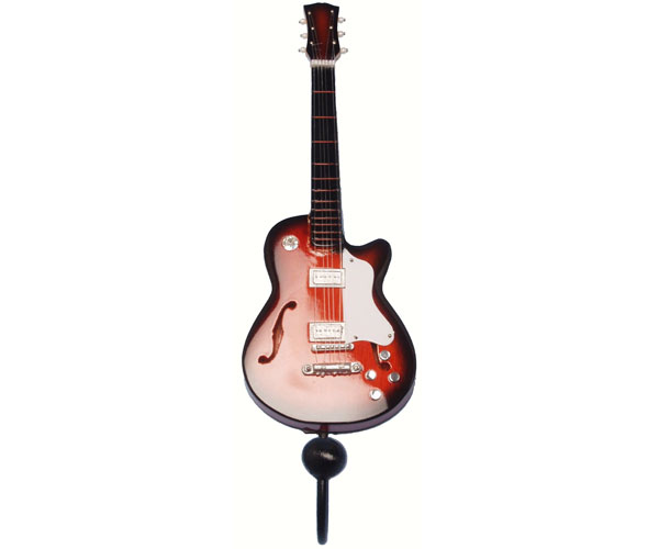 Orange & Black Jazz Guitar Single Wallhook SE3153994