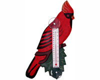 Cardinal on Branch Large Window Thermometer SE3171126