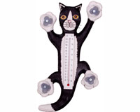 Climbing Black & White Cat Large Window Thermometer SE3171146