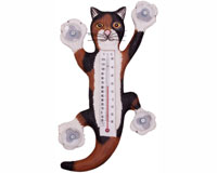 Climbing Calico Cat Large Window Thermometer SE3171147