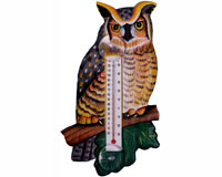 Great Horned Owl Large Window Thermometer SE3171733