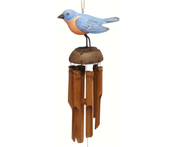 Bluebird Bamboo Windchime SE3361001'