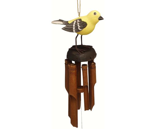 Goldfinch Bamboo Windchime SE3361004'