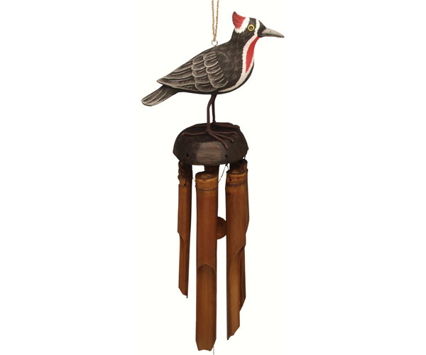 Woodpecker Bamboo Windchime SE3361007'
