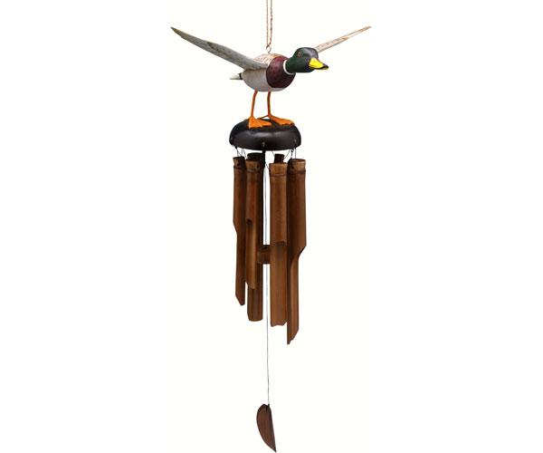 Flying Mallard Duck Bamboo Windchime SE3361013