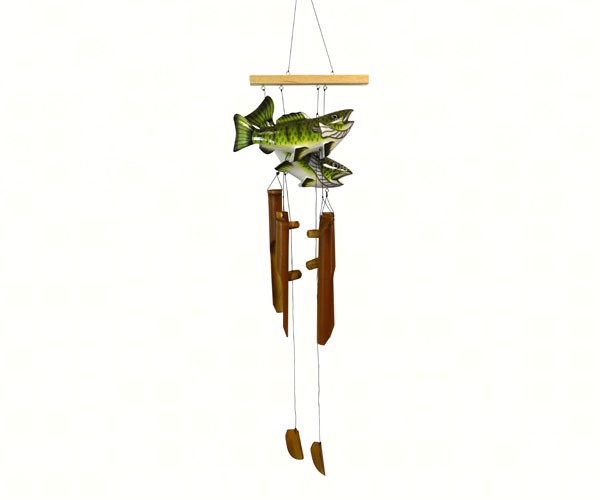 Bass Bamboo Windchime (two fish) SE3361025