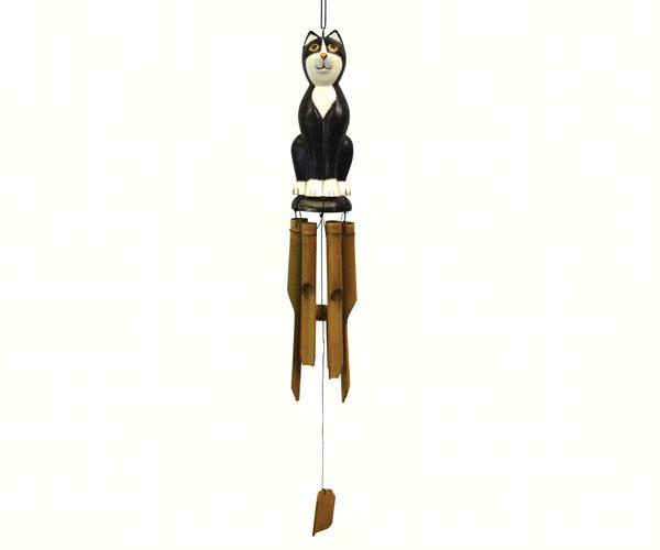 Black & White Cat Bamboo Chime SE3361035