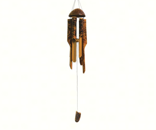 Flower Burnt Simple Bamboo Chime SE3361043