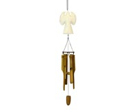 White Wooden Bamboo Chime SE3361057