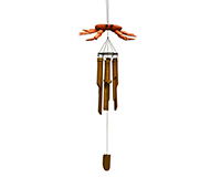 Crab Driftwood Bamboo Chime SE3361058