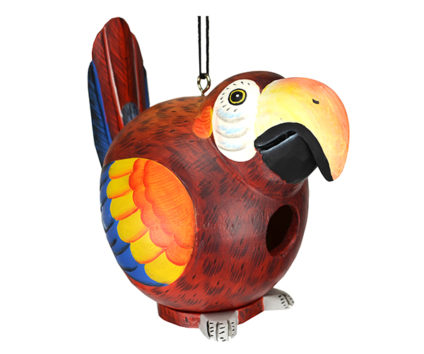 Red Parrot Gord-O Bird House
