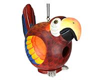 Red Parrot Gord-O Bird House-SE3880029