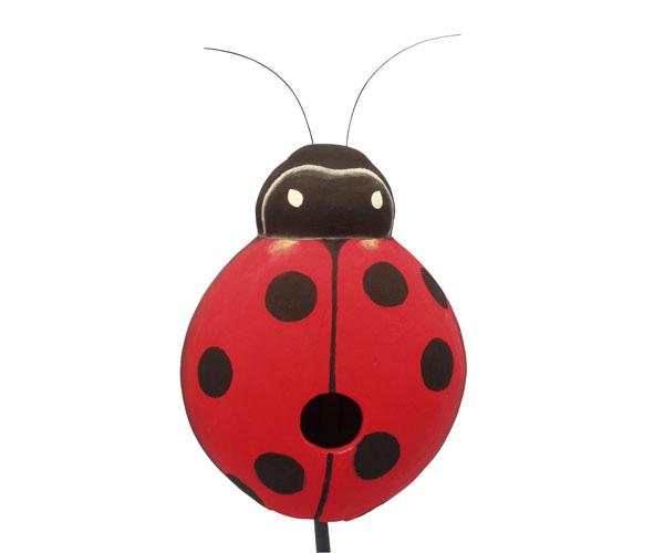 Ladybug Bird House