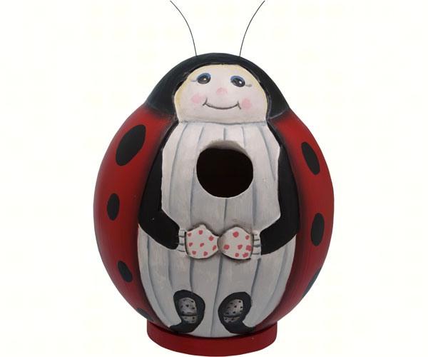 Ladybug Gord-O Bird House