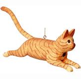 Leaping Orange Tabby Cat Bird House SE3880123
