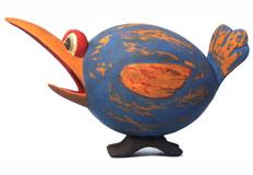 Blue & Orange Loony Bird Bird House SE3880170