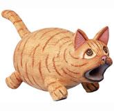 Big Mouth Orange Tabby Cat Bird House SE3880180