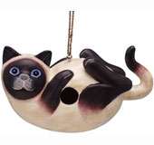Siamese Cat on Back Bird House SE3880195
