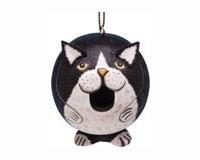 Black & White Cat Gord-O Bird House SE3880203