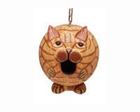Orange Tabby Cat Gord-O Bird House SE3880204
