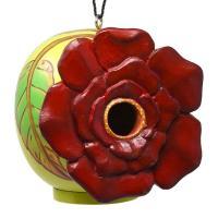 Rose Flower Gord-O Bird House-SE3880221