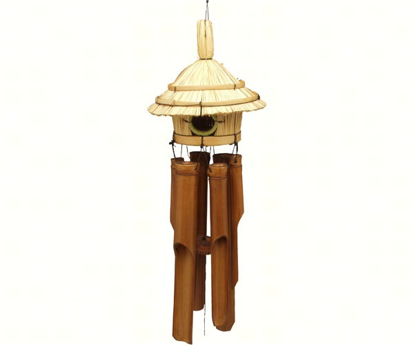 Round Straw Hut Bamboo Windchime SE3880801