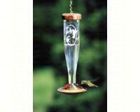 Crystal Etched hummingbird Lantern SE4056