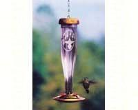 Amethyst Etched Hummingbird Lantern-SE4057