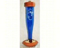 Cobalt Blue Etched Hummingbird Lantern-SE4059