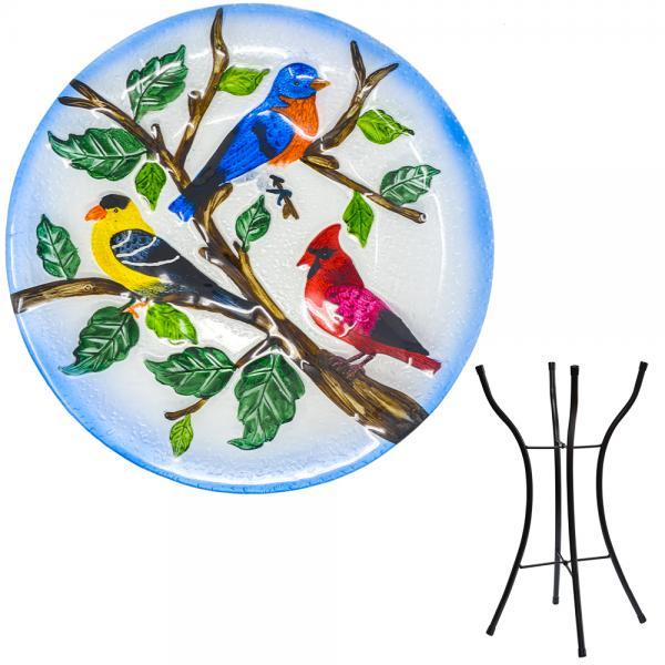 Songbird Trio Bird Bath with Stand