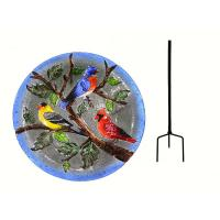 Songbird Trio Staked Bird Bath-SE5007