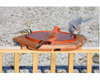Cedar Heated Deck Bird Bath SE501